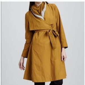 Eileen Fisher belted trench coat Size Small